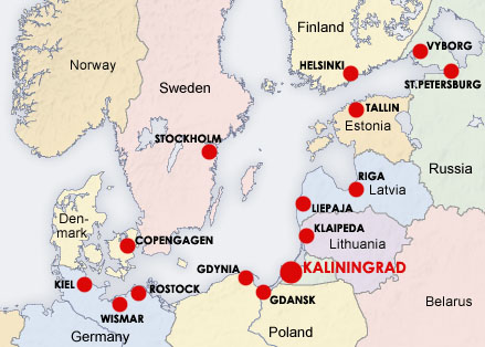 Location of Kaliningrad Sea Commercial port